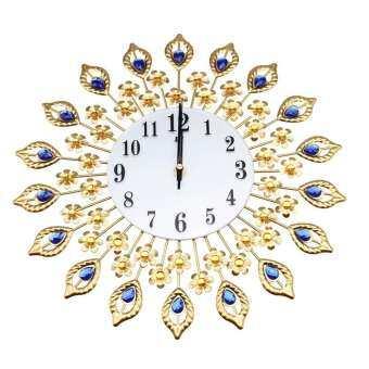 BuyBowie Timelike นาฬิกาแขวนผนังคริสตัล,โลหะนาฬิกาอะคริลิคติดผนังโมเดิร์นลูกปัดดอกไม้ DIY 3D นาฬิกาวินเทจสำหรับตกแต่งบ้าน-