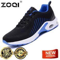 ZOQI Giày Sneaker Thời Trang Thể Thao, Chạy Bộ Giày (Đen & Xanh Dương)-quốc tế