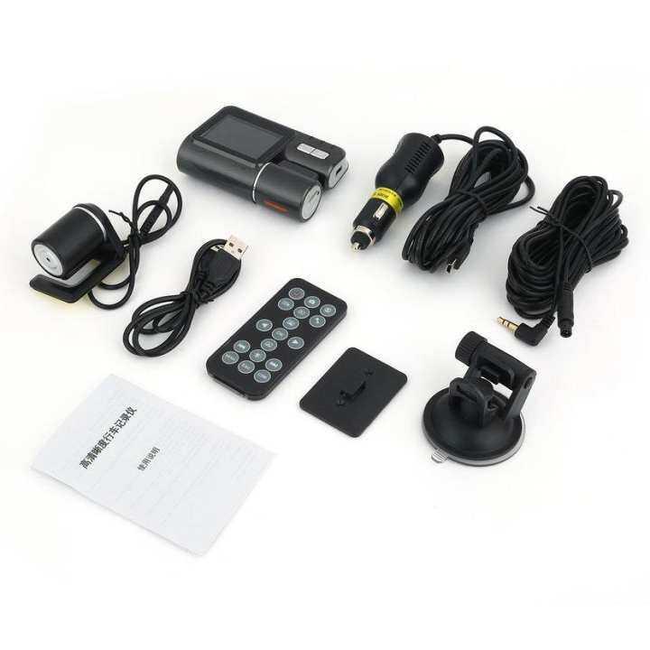 Neve Dua Lensa Mobil Kamera DVR I1000 1080 P Lampu IR LED Modus Malam Perekam Video