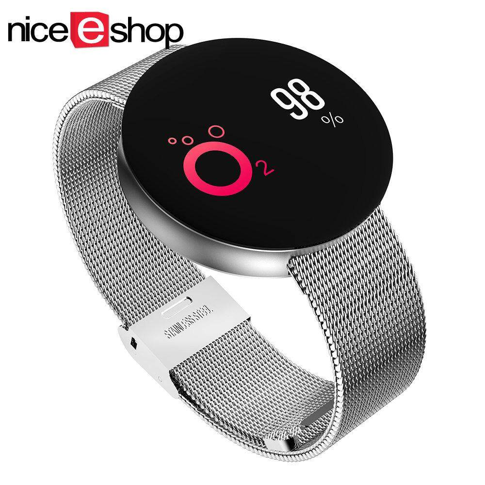 niceEshop Fashion Design Color Screen Smart Bracelet Fitness Band Waterproof Smartband Watch For Android IOS – intl