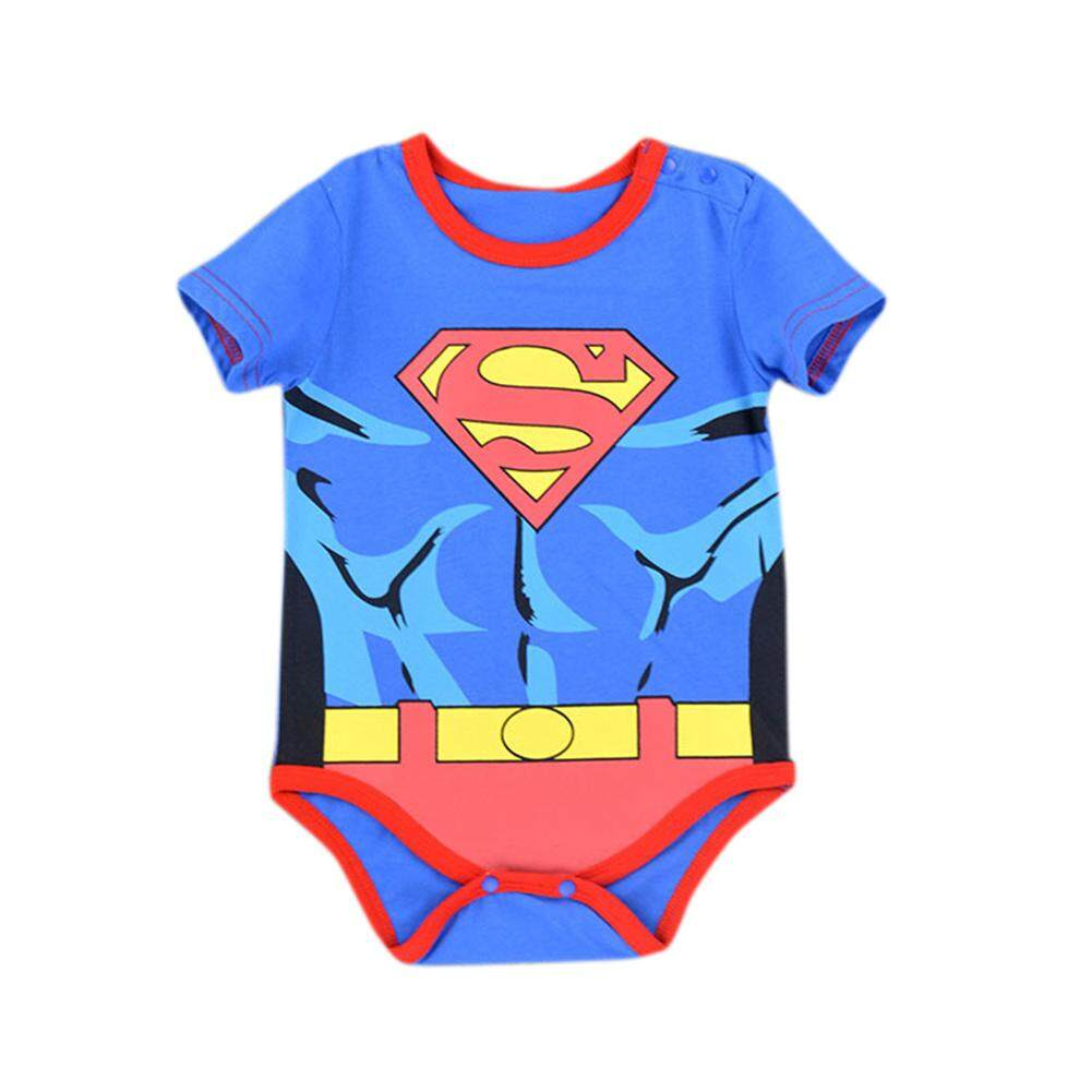 Lucky girl Baby Unisex Cute Cartoon Jumpsuit Rompers Triangle Conjoined Short Sleeve Clothes