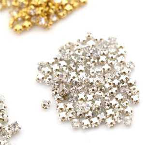 Hình ảnh 100pcs Mini Doll Crystal Rhinestone Rhinestones DIY Garment Sewing Clothes Accessories Gold 4mm