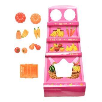 Doll Fruit Vegetables Basket Set for Barbies Dolls Kids Toys 11Pcs