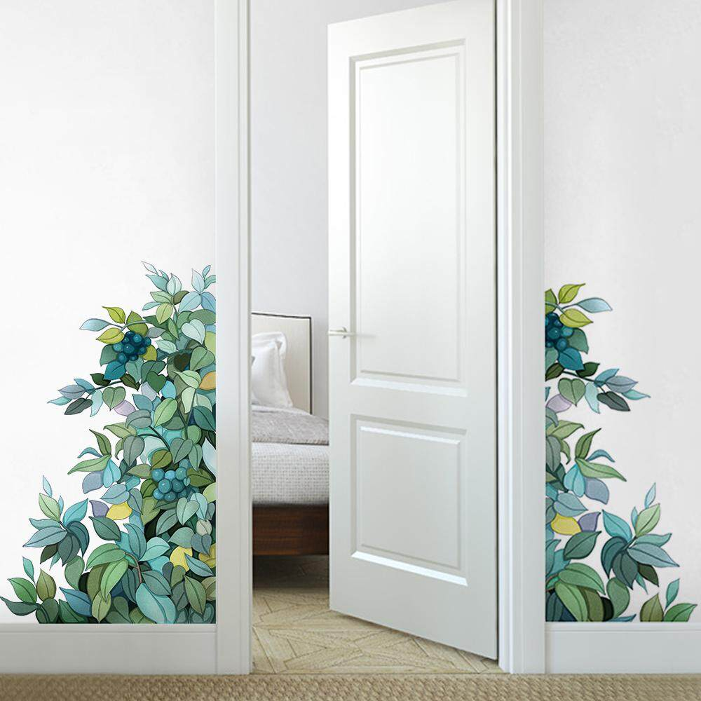Green Leaves Wall Sticker Home Decoration For bedroom//living room DIY Removable