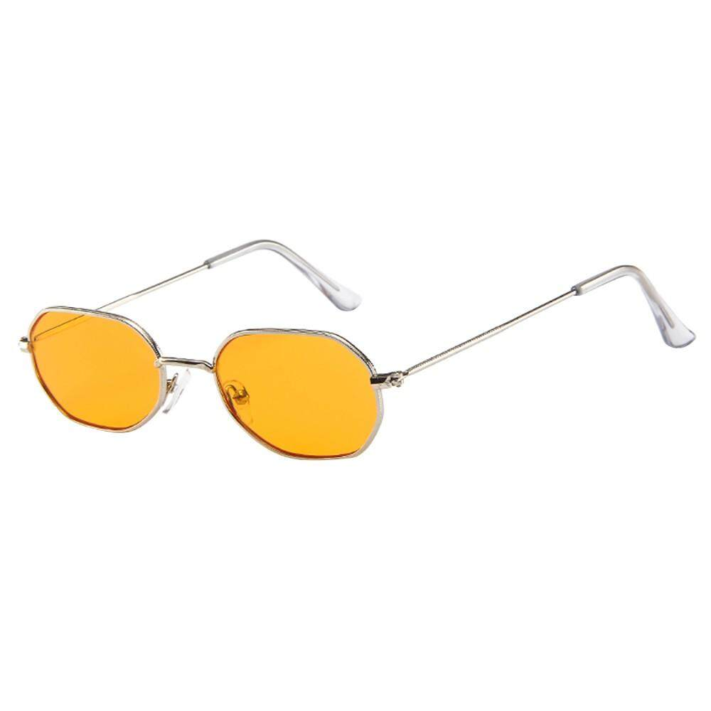 Ackeryshop Women Men Vintage Retro Glasses Unisex Small Frame Sunglasses Eyewear