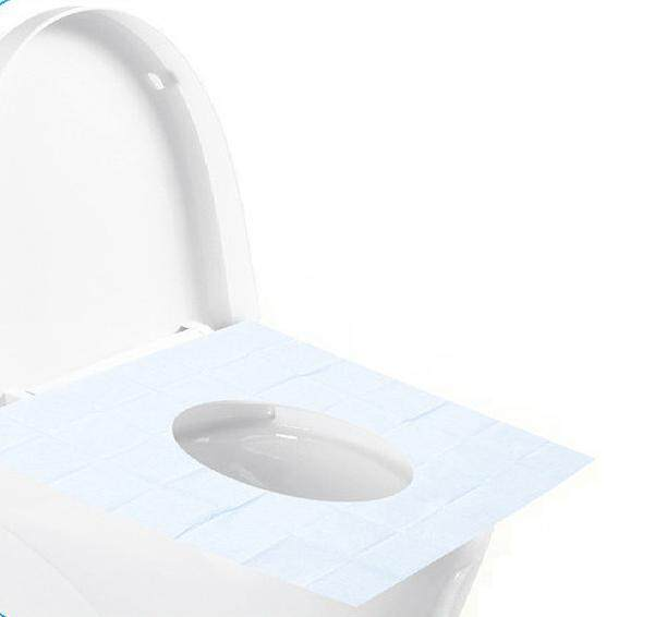 Disposable Waterproof Toilet Seat Covers for travelllers x 10 pcs