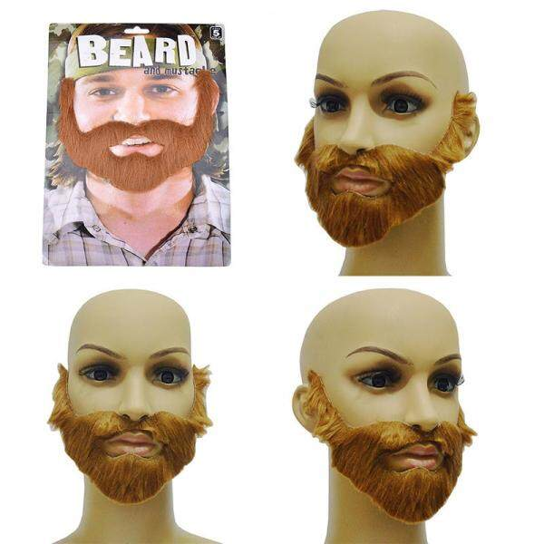 Cosplay Costume Party Male Man Halloween Beard Facial Hair Disguise Game Brown Mustache