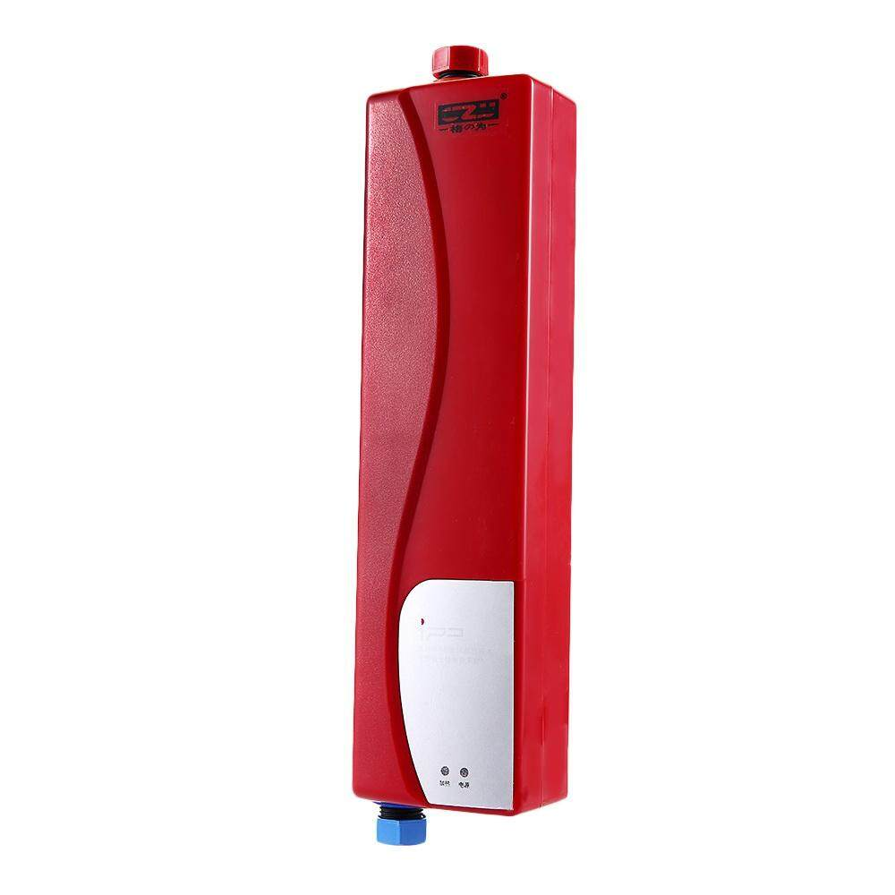 3000W Mini EU Instant Water Heater Heating Hot Electric Indoor Tankless ABS Wall Mounting Tap For Bathroom Kitchen #Red