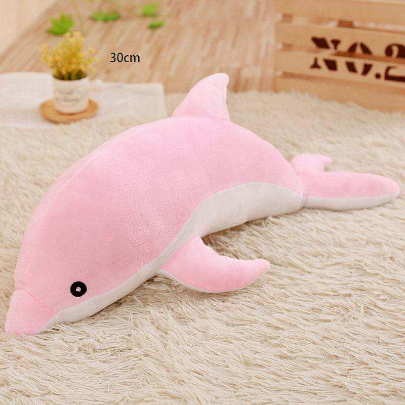 ... 2 Warna Ukuran Boneka Biru Pink Mainan Lumba lumba Mewah Boneka Hadiah Ulang Tahun