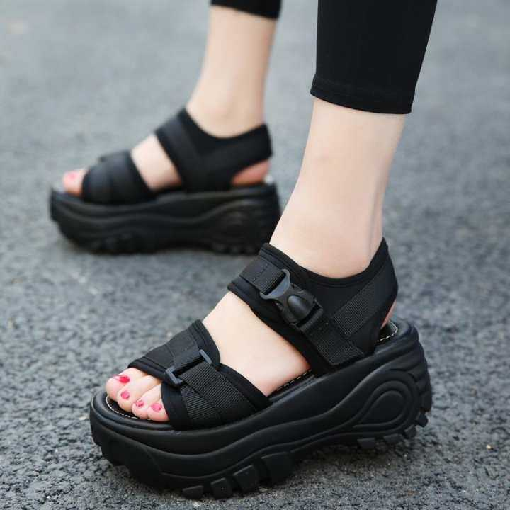 Gentlemen/Ladies - Baba thick summer of female from sandals sandals sandals in bottom Rome 2018 new style of peep-toe bind to take a waterproof NTU of small code ascent with shake shoe female - intl  -  Complete specifications e7c57d