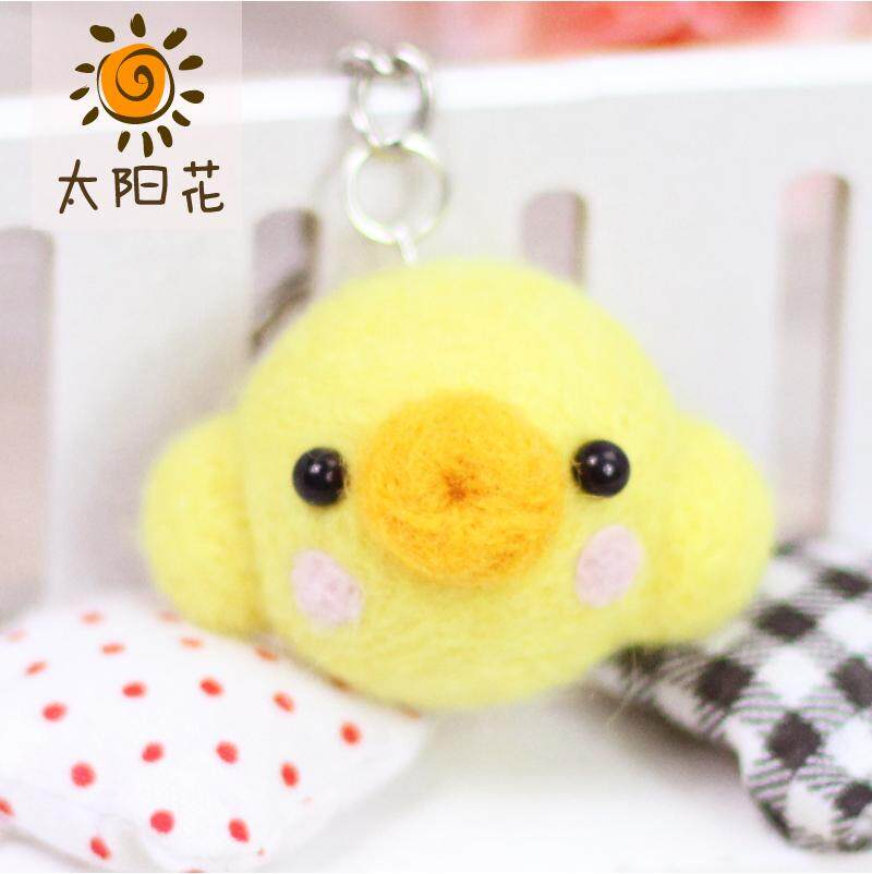 Wool Felt Poke Handmade DIY Chinese Zodiac Hand Rabbit Chicken Sheep Dog Constellation Material Box