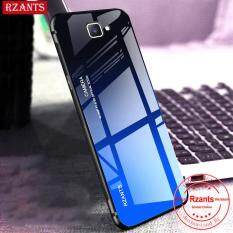 Rzants Ốp lưng cho Samsung Galaxy J7 Prime Case【Gradient】Smooth Tempered Glass Ultra-thin Shockproof Hard Back Phone Casing