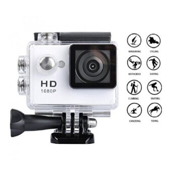 Goldwangwang 1080P Full HD 2.0 inch LCD Screen Waterproof SportsAction Camera Cam DV 5MP DVR Helmet Camera Sports DVCamcorder+Extra 1 Batteries White