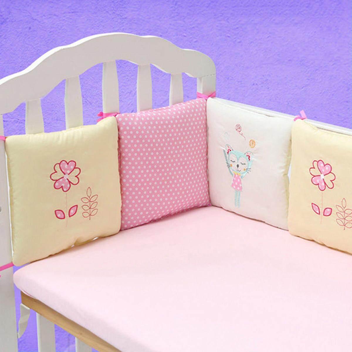 6Pcs Popular Crib Bumper Protective Baby Nursery Bedding Comfy Infant Cot Pad