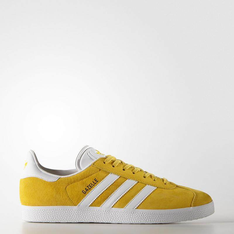 03578058d Adidas Gazelle Men s Running Shoe Lightweight Casual Sports Sneakers (White  Yellow)