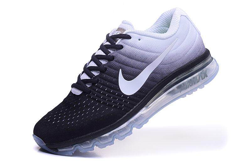 21c0fbc23f3c Nike Air Max 2017 Men s Running Shoe Lightweight Sneakers (White Black)