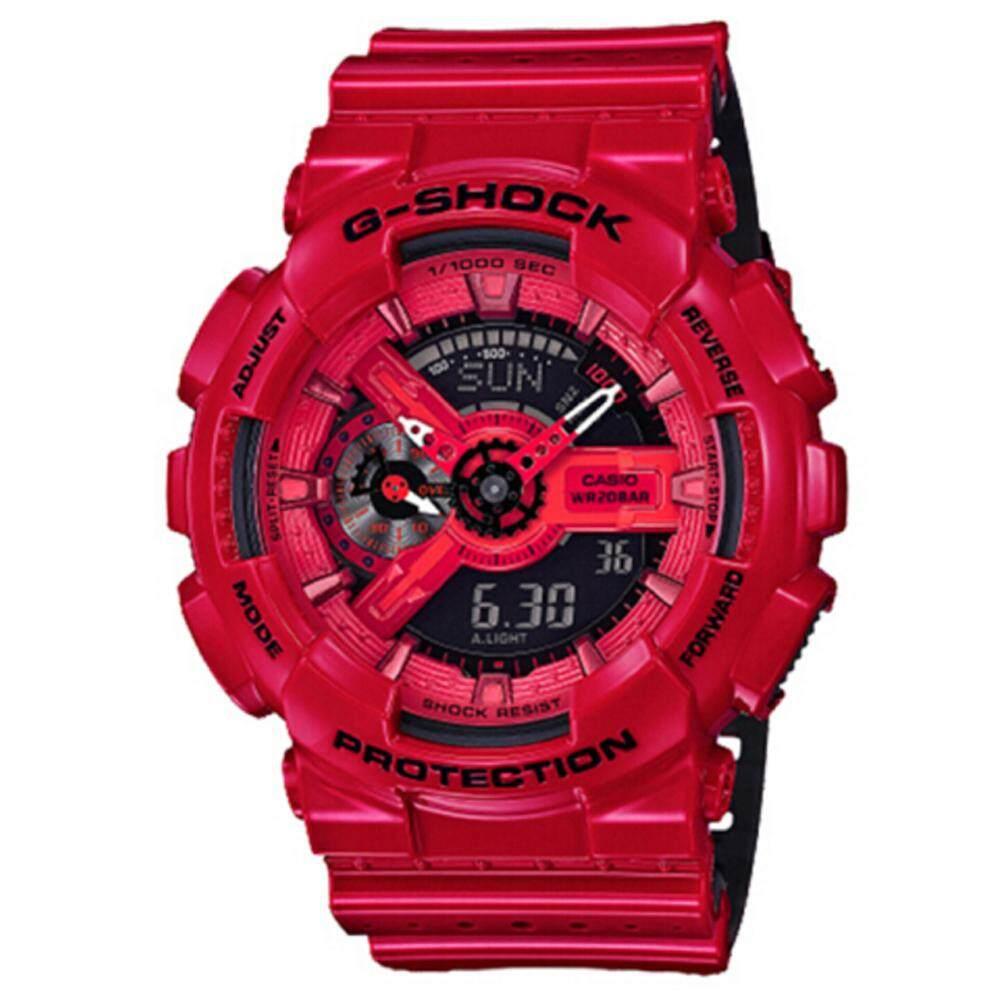 ยี่ห้อไหนดี  นครพนม 【 STOCK】Original _ Casio_G-Shock Duo W/เวลา 200M กันน้ำโลกเวลานาฬิกากีฬาไฟแอลอีดีอัตโนมัติสำหรับชาย GA-110LPA-4A