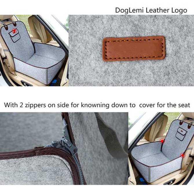 LB Pet Car Seat Cover Puppy Basket Pet Carrier Protector Pet Supplies Specification:45*45*60CM