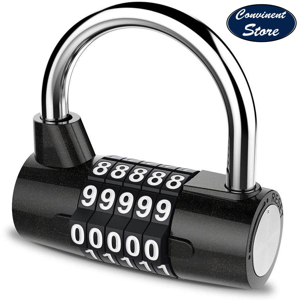 5704881796e3 ✅【5 Digit】 Combination Lock Padlock Set Waterproof Antirust Resettable for  Outdoor Gym School Office Home Bicycle Suitcase Luggage Backpack Storage ...
