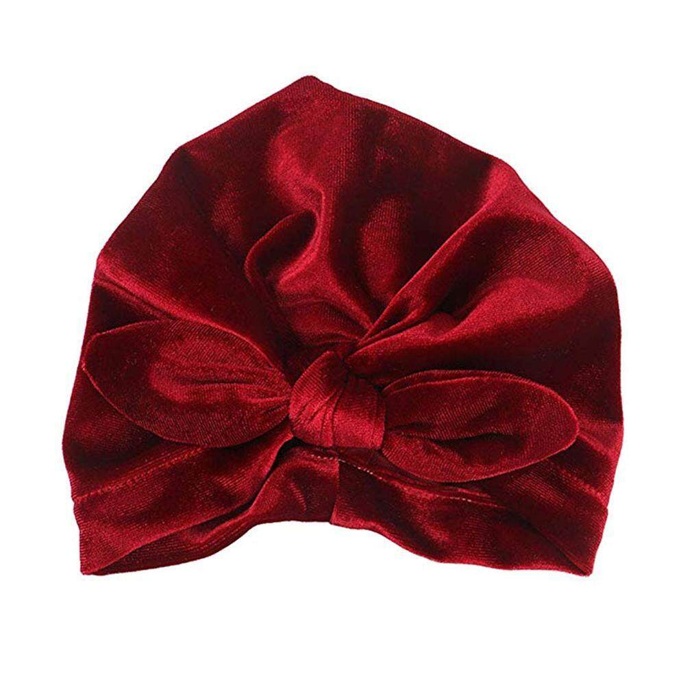Baby Turban Knot Headband,Newborn Baby Girl Soft Cute Turban Knot Rabbit Hospital Hat Velvet Elastic Sretch Head Wrap