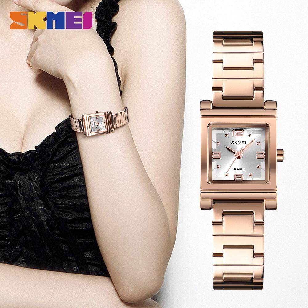 SKMEI New Women Bracelet Watch Top Brand Luxury Female Quartz Stainless Steel Watches Fashion Crystal Ladies Dress Wristwatches 1388