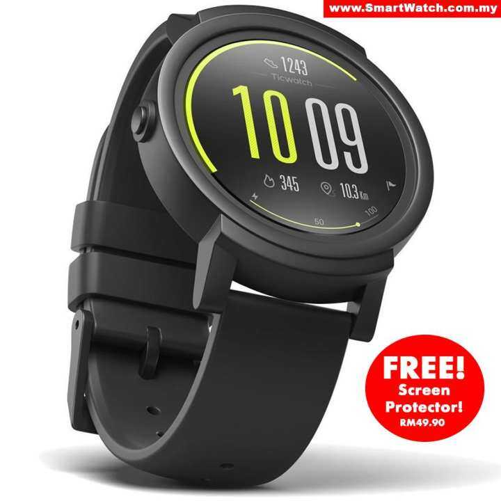 ticwatch E Shadow, Most Comfortable Smart Watch,1.4 Inch Oled Display, Android Wear 2.0,Compatible With Ios And Android, Live An Organized Life