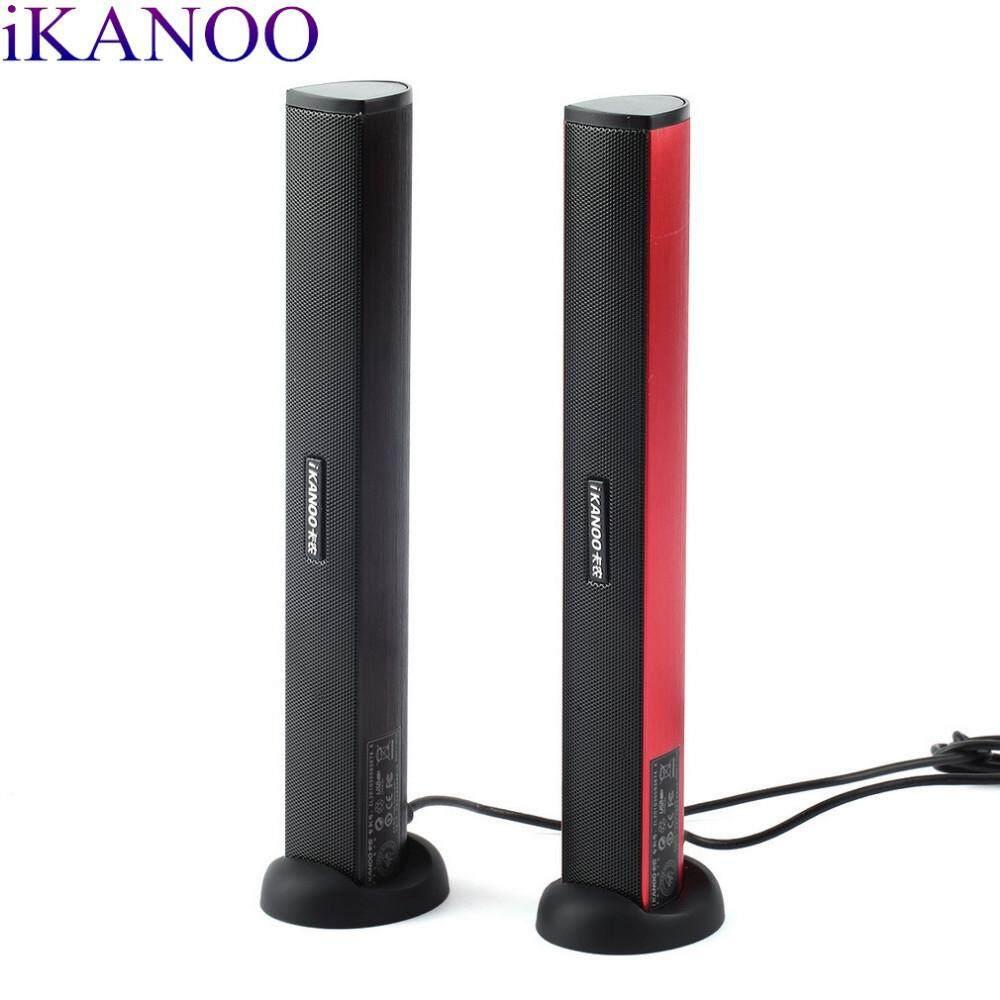 Ikanoo N12 Di Động USB 2.0 Steroe Bass Nặng Máy Tính Laptop Loa Với Giá Đỡ Kẹp
