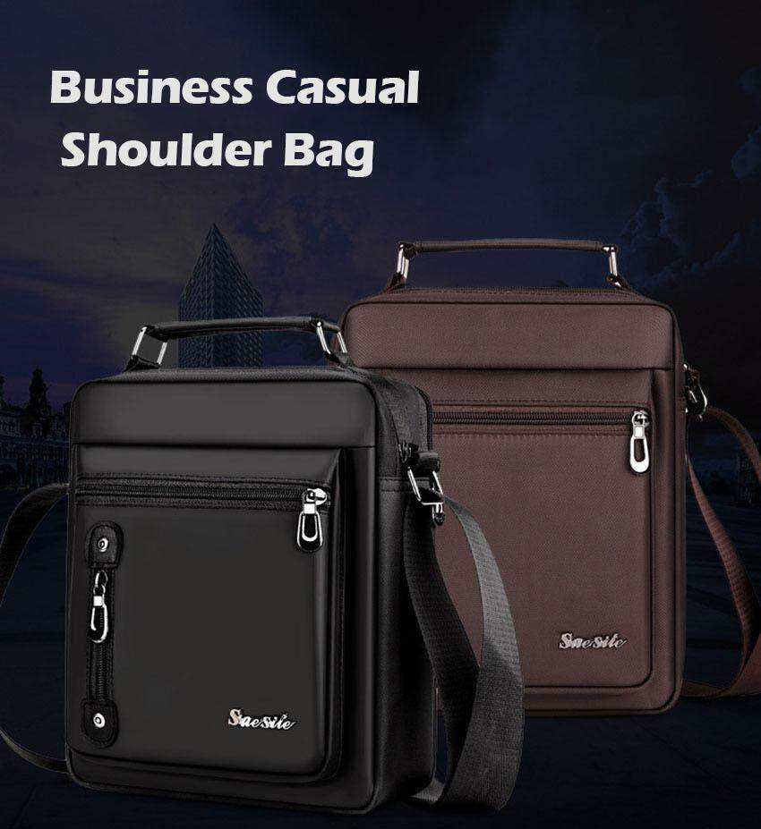 Unique2017 Premium Men's Vertical Oxford Cloth Briefcase Retro Handbag Messenger Business Tote Bags Casual Shoulder Laptop Bag