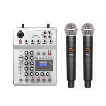 FOLE F-12T-USB KTV STAGE DJ Audio มิกเซอร์คอนโซลผสมพร้อมจอแสดงผล 2 ไมโครโฟน - EU-