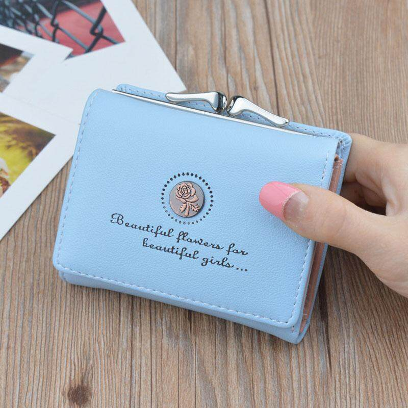 La vis Women Lady Wallet Purse Mini Small Vintage PU For Credit ID Card Coin Money Holder