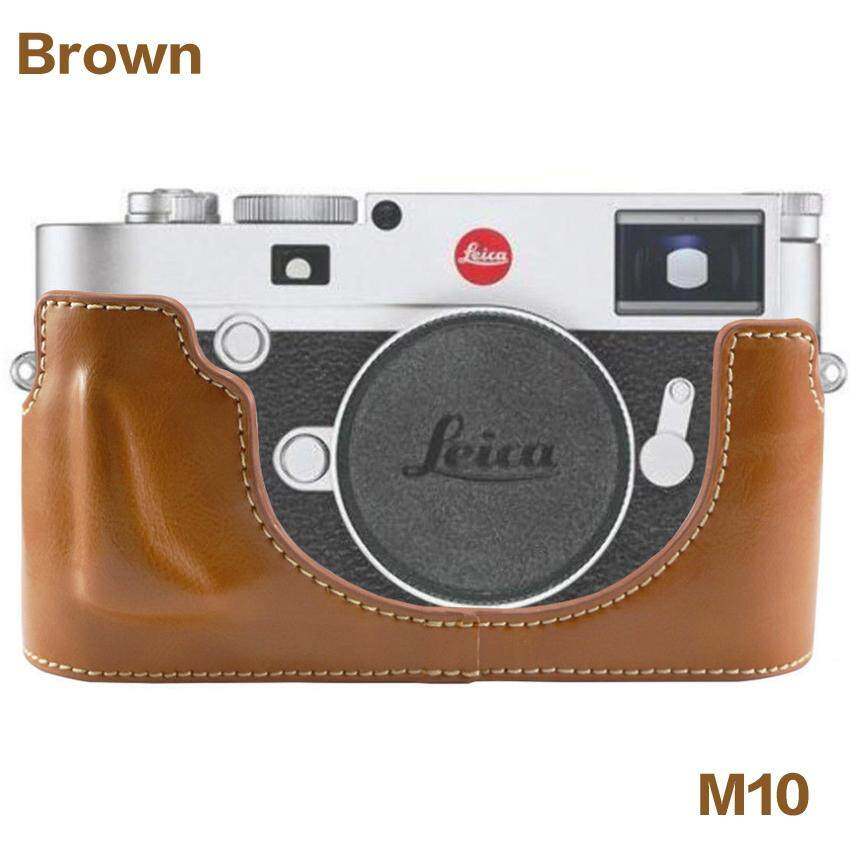 Newest Fashional Camera Bag Case For Leica M10 PU Leather Half Body Set Cover With Bottom Opening