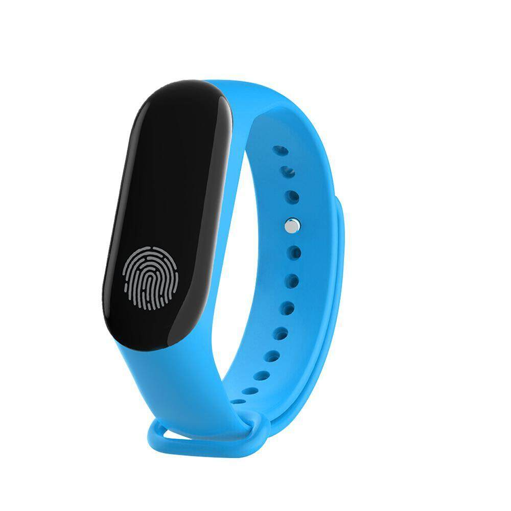 niceEshop M3 Smart Wristband LCD Screen Pedometer Heart Rate Fitness Tracker Bracelet For IOS Android
