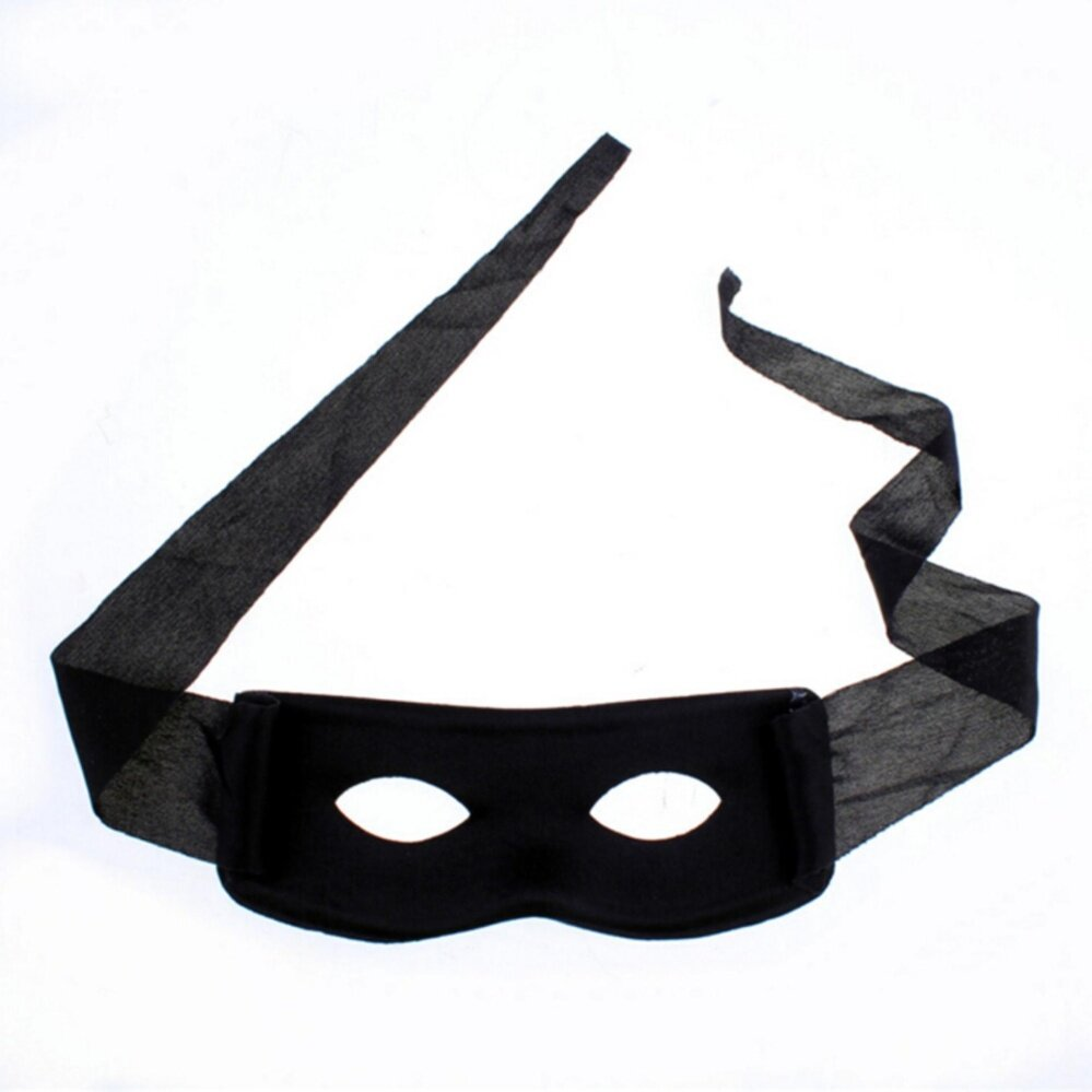 Bandit Zorro Masked Man Eye Mask for Theme Party Masquerade Costume Halloween  Black