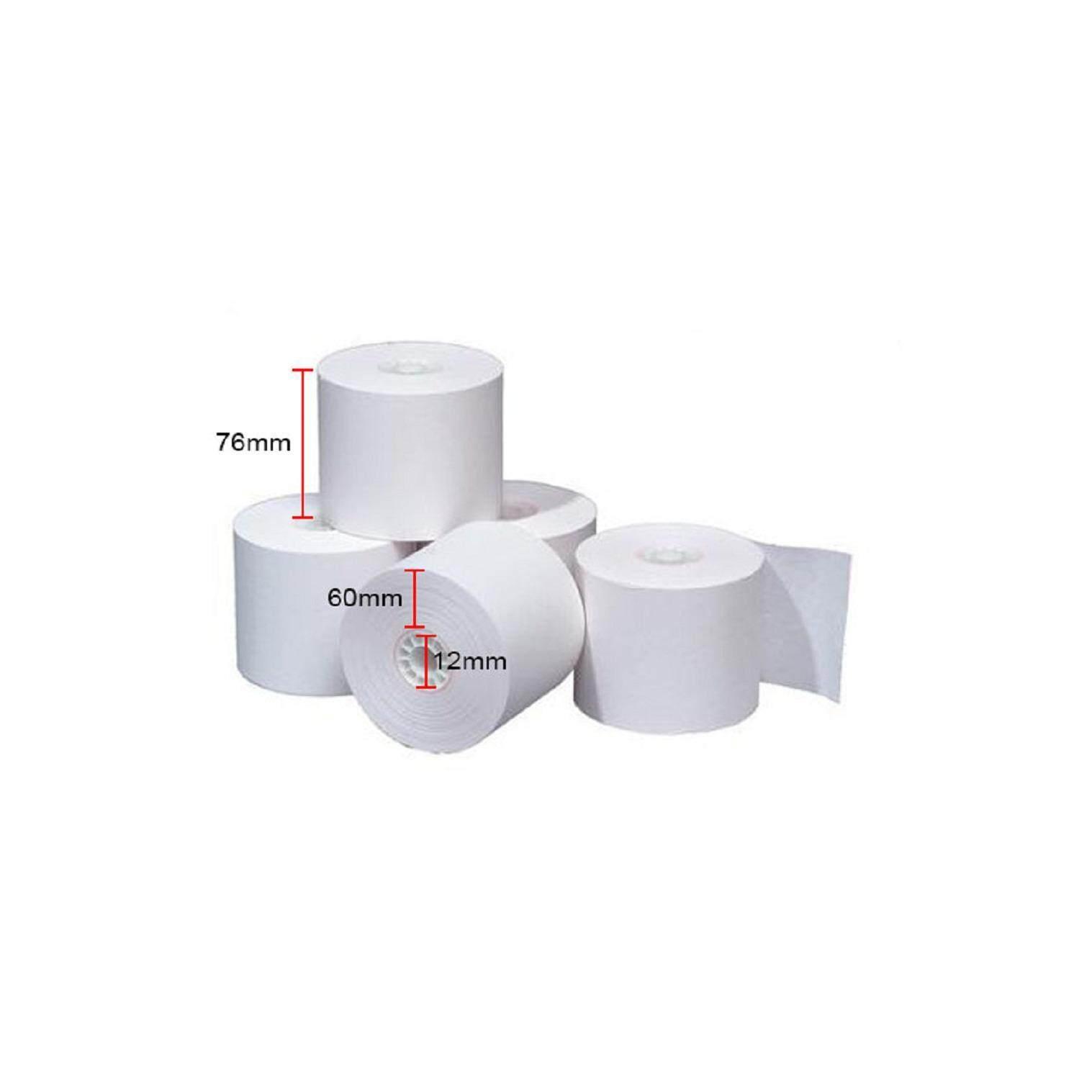 Paper Roll 76mm x 60mm x 12mm (20rolls)