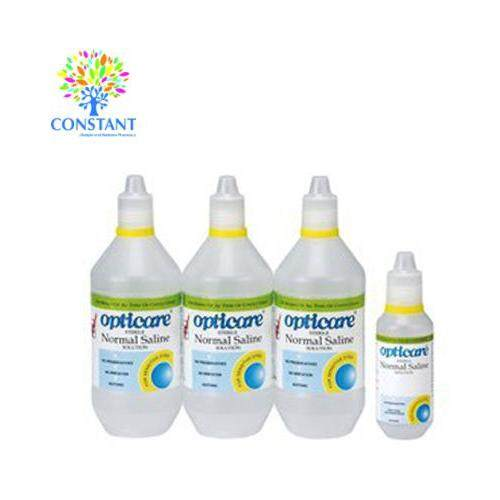 Opticare Normal Saline Solution 500ml x 3 + 120ml