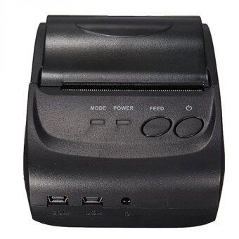 Mini Wireless 58mm Portable Bluetooth Thermal Printer Receipt for Android Mobile (Black)