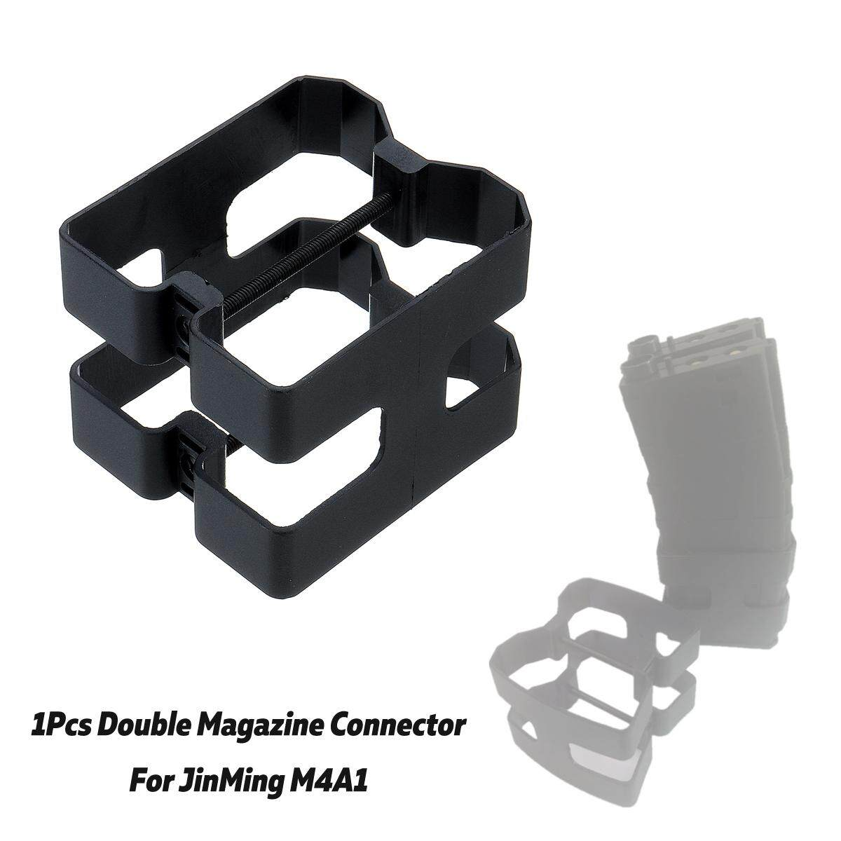 1Pcs Black Double Magazine Connector for JinMing Scar Gel Ball Toy