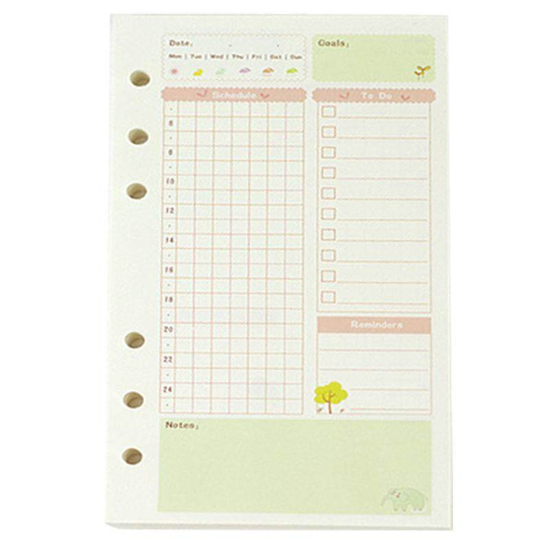 picture regarding Cute Planner Refills named A5 Adorable colourful diary refills spiral laptop computer change colour main free leaf stationery reward university planner ring binder paper(Every day Plan) - intl