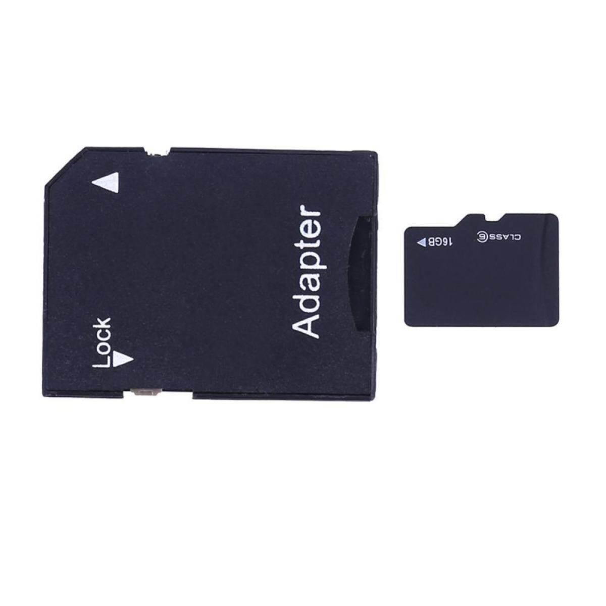 TF Card + SD Card Adapter + Mini Plastic Shell Card Reader (Random Color)
