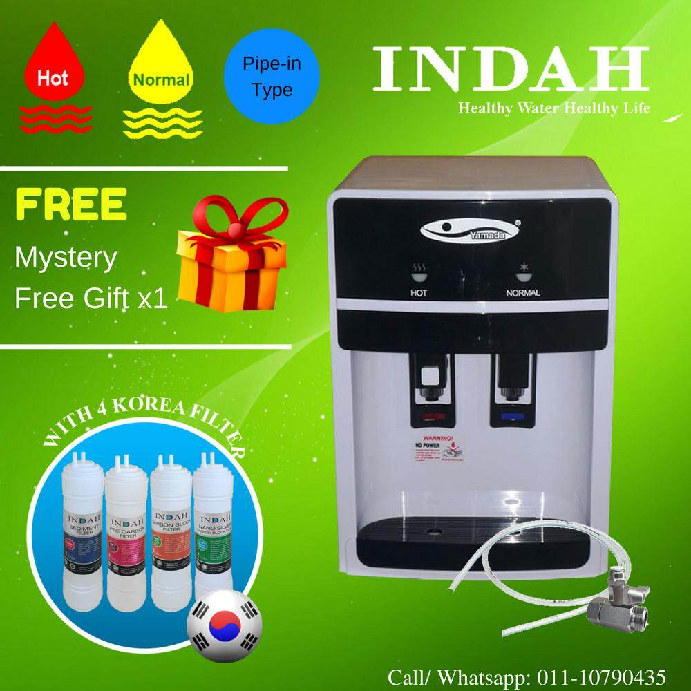Yamada Mild Alkaline Water Dispenser Hot & Normal Model: 389-18 With 4 Korea Water Filter