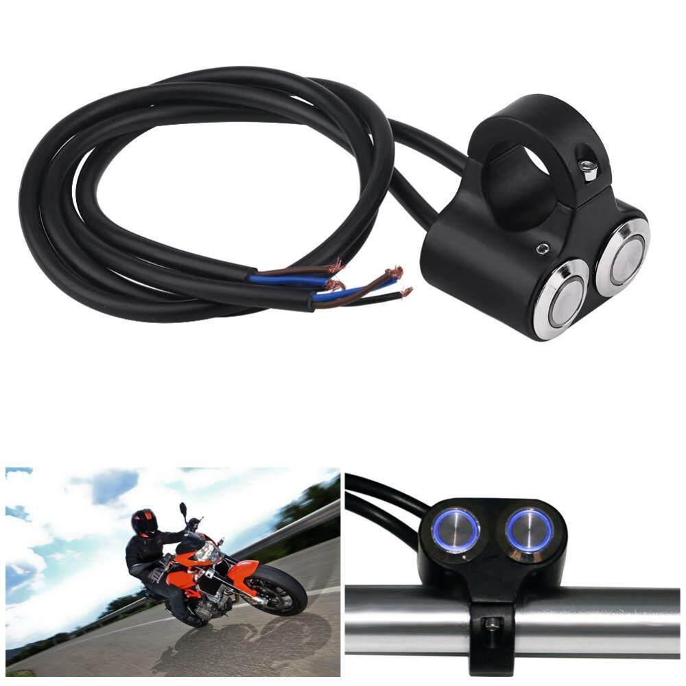 Color : Black Universal 7/8 22mm Motorcycle Handlebar Switch Horn Headlight Hazard Brake Fog Light ON/Off Start Kill Switch with LED Light Motorcycle & ATV Electrical