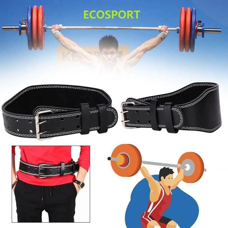 Ecosport Profesional Angkat Berat Dalam Jongkok Cross-Fit Belt Gym Strap Latihan untuk Kebugaran Latihan
