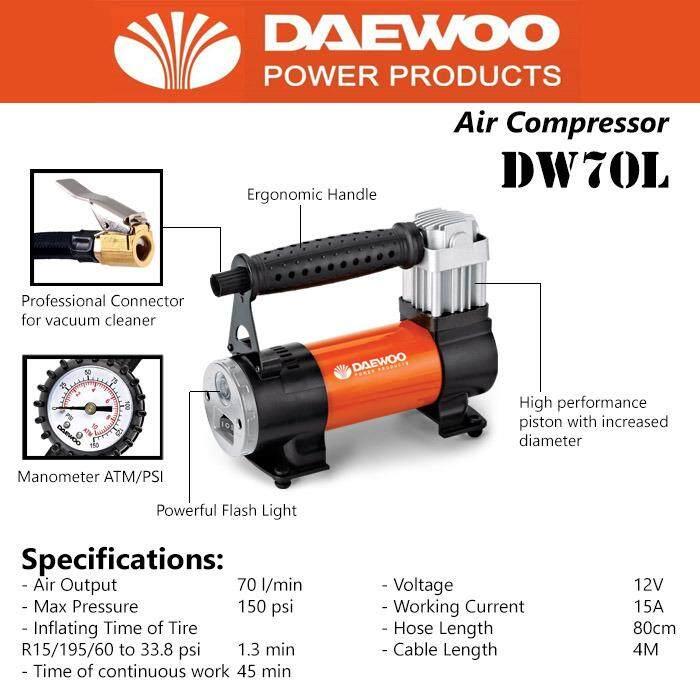 DaeWoo DW 70L air compressor: Buy sell online Air Compressors ...