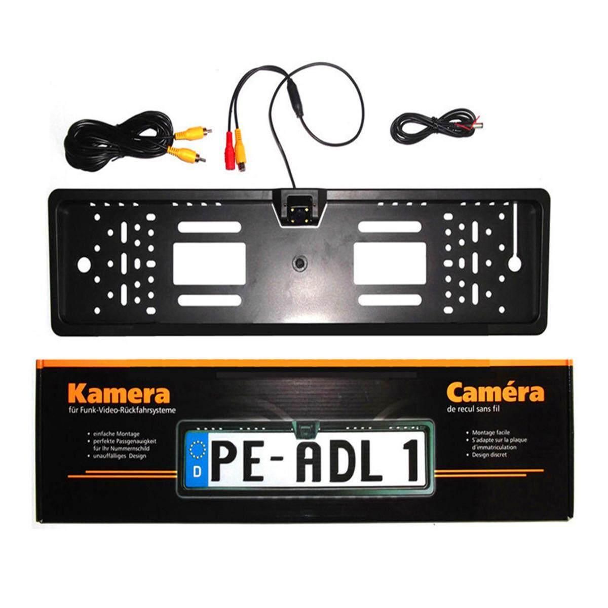 License Plate Frame Portatarga con telecamera Retromarcia Auto Retrocamera 170° Black