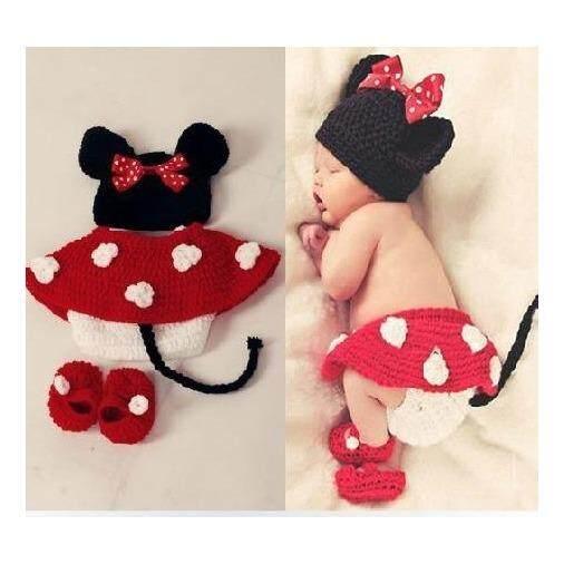Bayi Baru Lahir Fotografi Alat Peraga Kostum Bayi Headband Bayi Fotografi Prop Hewan Mouse Gambar Model Pakaian-Intl