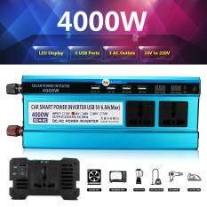 4000 Wát Cao Điểm Ô Tô Inverter Màn Hình LED Hiển Thị 24 V DC 220 V AC Sóng Sin Bộ Chuyển Đổi