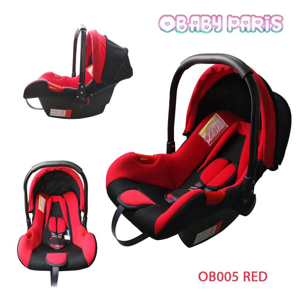 OBaby Paris OB005 Premium Baby Carrier Basket, Baby Car Seat and Cradle - Red