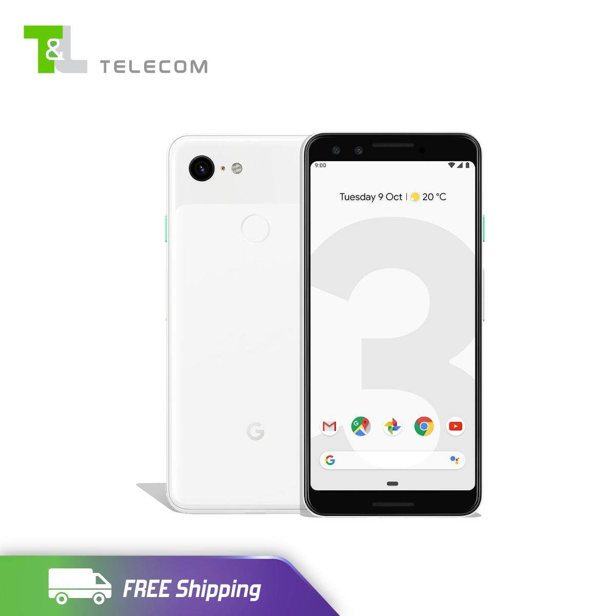 Google Pixel 3 64GB LTE (Clearly White) - Ready Stock