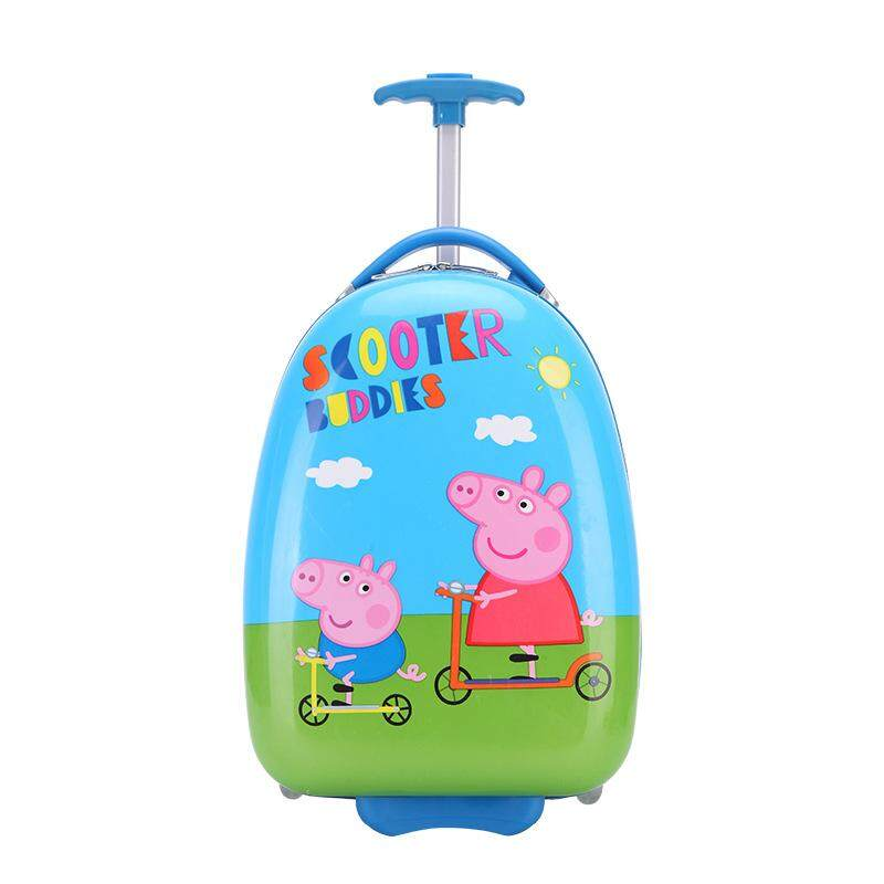 New cartoon cute one-way egg shell schoolbag children 16-inch pull pole luggage suitcase, children's bag, backpack, cartoon bag, pull pole bag, double shoulder bag, anti-loss bag