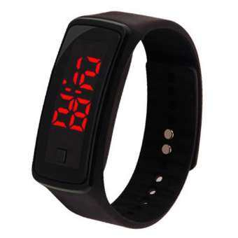HiQueen ง่ายเด็กซิลิโคนนาฬิกาไฟฟ้า LED ข้อมือดิจิตอลของตกแต่งรูปนาฬิกาข้อมือของขวัญ-